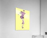 1980's Fashion on Yellow  Acrylic Print
