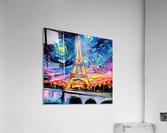 Eiffel Tower Starry Night print van Gogh  Acrylic Print