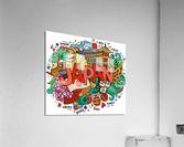 Earthquake and tsunami drawing japan illustration  Acrylic Print