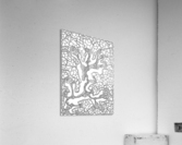 Wandering Abstract Line Art 40: Black & White  Acrylic Print