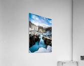 Snowy Sunwapta Falls  Acrylic Print
