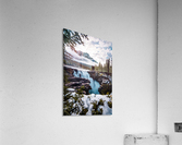 Wintry Waterfall  Acrylic Print
