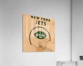 1971 New York Jets Vintage Helmet Art  Acrylic Print