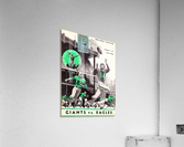 1957 New York Giants vs. Eagles Football Program Canvas  Acrylic Print