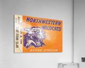 Northwestern University Wildcats College Wall Art Ticket Stub  Acrylic Print