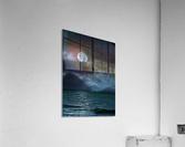 Cloudy Moon Shore at Night  Acrylic Print