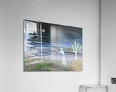 She chased the moon  Acrylic Print