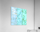 background marble set  Acrylic Print