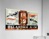 Vintage Oklahoma A&M Art  Acrylic Print