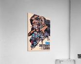 1968 Detroit Lions NFL Press Guide Reproduction Art_Detroit Michigan Gift Ideas  Acrylic Print