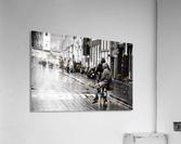 Couple in the rain  Acrylic Print