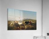 Herde mit eselreitendem Hirtenknaben  Acrylic Print