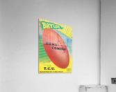 1935 College Football Program Cover Art Poster  Baylor Bears vs. TCU Football Art Print Posters  Acrylic Print