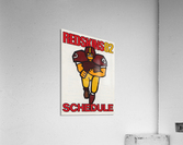 1982 Washington Redskins NFL Football Schedule Art Poster Row One Brand  Acrylic Print
