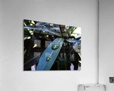 Raindrop on a green leaf  Acrylic Print