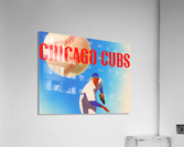 SportsArtRemixes_PublicDomainSportsArtCreations_ChicagoCubsPoster(1950)  Acrylic Print