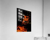 Burning on Fire Letter B  Acrylic Print