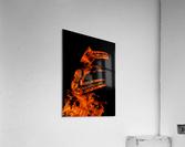 Burning on Fire Letter E  Acrylic Print