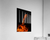 Burning on Fire Letter I  Acrylic Print