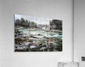 River in Winter  Acrylic Print