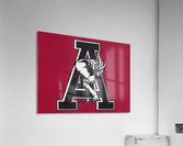 vintage alabama a elephant artwork 1982 college poster  Acrylic Print