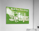 north texas state college unt eagles vintage poster college art collection  Acrylic Print