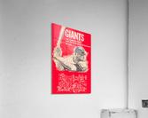 1965 san francisco giants program baseball scorecard poster  Acrylic Print