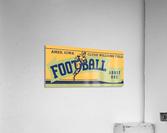 1939 Ames Football Admit One Ticket  Acrylic Print