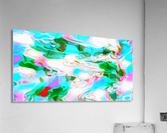 Angelic High - white blue red pink multicolor swirl abstract wall art  Acrylic Print