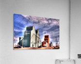 Grain Elevators in Nanton Alberta  Acrylic Print