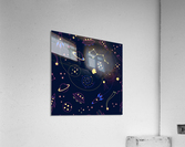 Cartoon space seamless pattern vectors  Acrylic Print
