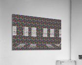 seamlessprismaticgeometricpatternwithbackground  Acrylic Print