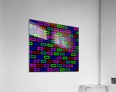 colourfulbrickspatterncolour  Acrylic Print