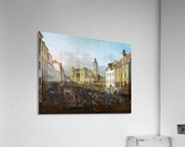 Market outside church  Acrylic Print