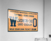 ticket stub metal sign osu buckeyes football vintage tickets wood prints  Acrylic Print