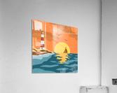 sea retro poster  Acrylic Print