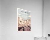 south dakota retro poster usa south dakota travel illustration united states america  Acrylic Print