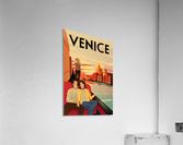 venice travel poster  Acrylic Print