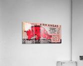 1941 Arkansas Razorbacks Ticket Stub Art  Acrylic Print