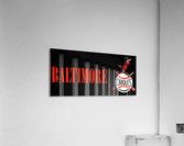 baltimore orioles retro remix row one  Impression acrylique