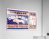 1938 Syracuse vs. Columbia  Acrylic Print