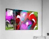 Neon Waves  Acrylic Print