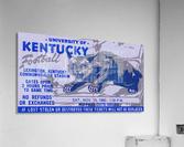 university kentucky wildcats football ticket stub wall art  Acrylic Print
