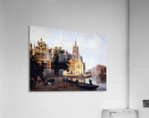 City view with canal Sun  Acrylic Print