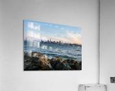 San Francisco City Skyline At Sunset  Acrylic Print