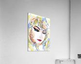 Chic Artistic Feminine Portrait  Acrylic Print