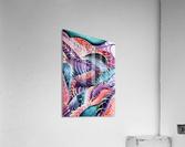 Artdeco Abstract Linear Interlacing Pattern  Acrylic Print