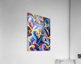 Interlacing Vivid Contemporary Abstract  Acrylic Print