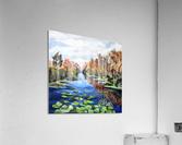 Danube River Watercolor Seascape  Acrylic Print