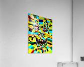 Watecolor Contermporary Pop Surrealism Clown   Acrylic Print